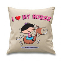 I Love My Horse Cushion