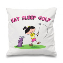 Eat Sleep Golf Womens Cushion