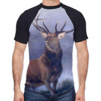 The Monarch of The Glen Sir Edwin Landseer Men's All Over Graphic Contrast Baseball T Shirt