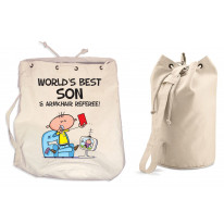 Worlds Best Son Duffle Backpack Bag