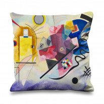 Wassily Kandinsky Yellow Red Blue Faux Silk 45cm x 45cm Sofa Cushion