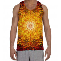 Flower of Life Red Pattern Men's All Over Graphic Vest Tank Top