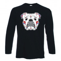 British Bulldog Sugar Skull Long Sleeve T-Shirt