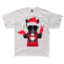 French Bulldog Santa Claus Style Father Christmas Kids T-Shirt