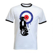 Mod Target Scooter Ringer Style T-Shirt