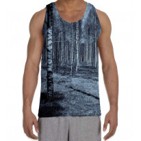 Forest in Black White Horror Men's All Over Graphic Vest Tank Top