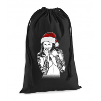 Tattooed Lady Santa Hat Christmas Presents Stocking Drawstring Sack
