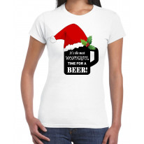 Its The Most Wonderful Time For a Beer Christmas Funny Women's T-Shirt