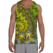 Cannabis Fractal Loop Psychedelic Men's All Over Graphic Vest Tank Top