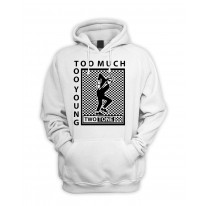 Two Tone Too Much Too Young Logo Pull Over Pouch Pocket Hoodie