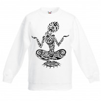 Lotus Pose Tattoo Hipster Children's Toddler Kids Sweatshirt Jumper