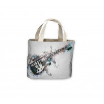 Guitar Painting Band Tote Shopping Bag For Life