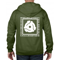 Northern Soul All Nighter 45 Vinyl Adapter Full Zip Hoodie