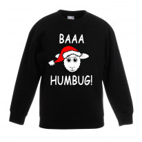 Baaa Humbug Sheep with Santa Hat Christmas Funny Childrens Kids Sweatshirt Jumper