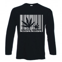 Marijuana Cannabis Barcode Long Sleeve T-Shirt