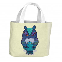 Mother and Baby Owl Cute All Over Tote Shopping Bag For Life