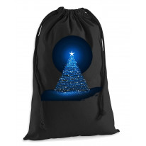 Glowing Christmas Tree Men's Xmas Presents Stocking Drawstring Santa Sack