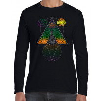 Buddha Third Eye Psychedelic Hipster Long Sleeve T-Shirt