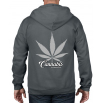 Cannabis For Medical Use Leaf Full Zip Hoodie