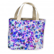Purple Star Explosion Tote Shopping Bag For Life