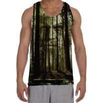 Forest Horror Face Men's All Over Graphic Vest Tank Top