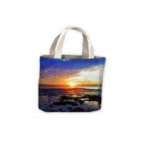 Sunset on the Sea Beach Tote Shopping Bag For Life