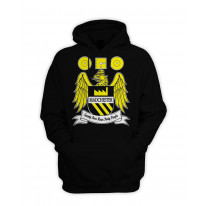 Madchester 24 Hour Party People Coat of Arms Pull Over Pouch Pocket Hoodie